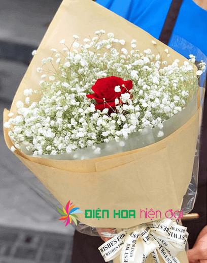 Bó hoa hồng đơn giản - DH069