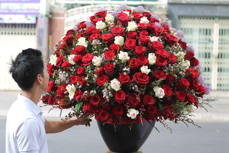 lẵng hoa hồng tươi đẹp