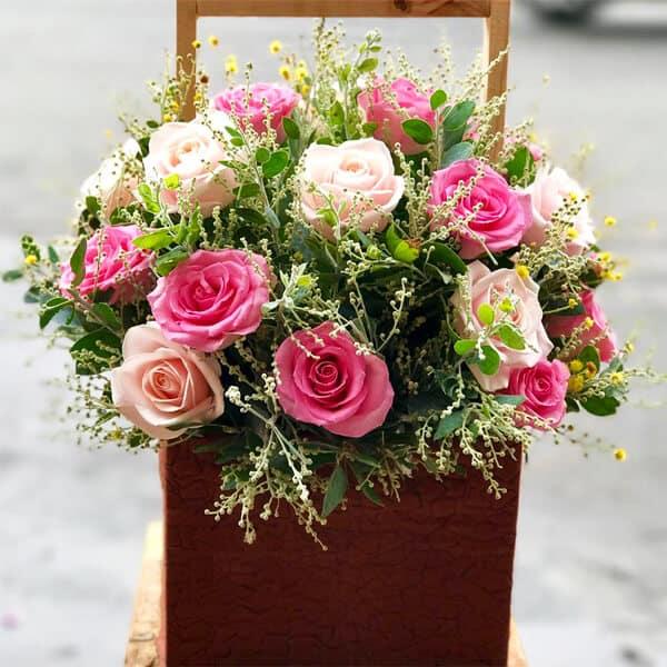 Lẵng hoa hồng Hân Hoan