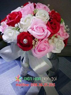 Hoa hồng ngọc trai - Hoa cưới DH346