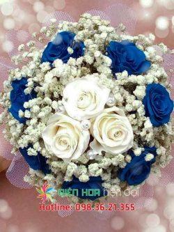 Hoa hồng xanh hồng trắng - Hoa cưới DH348
