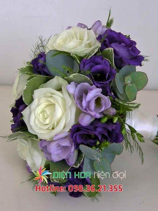 Hoa hồng tím thân thương - Hoa cưới DH349
