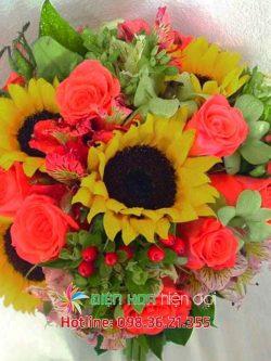 Cúc vàng ngày cưới - Hoa cưới DH352