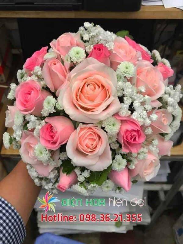 Vườn hồng khoe sắc - Hoa cưới DH356