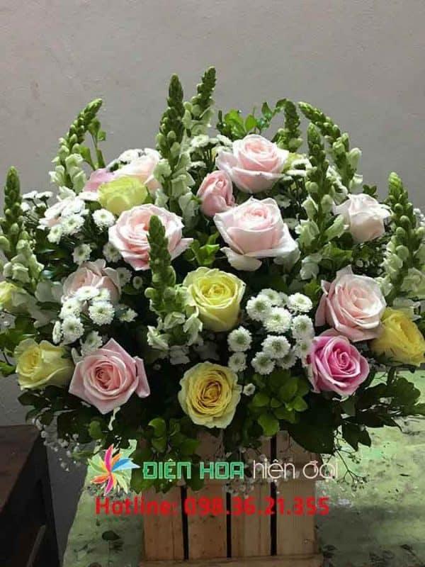 Giỏ hồng sớm mai - DH315