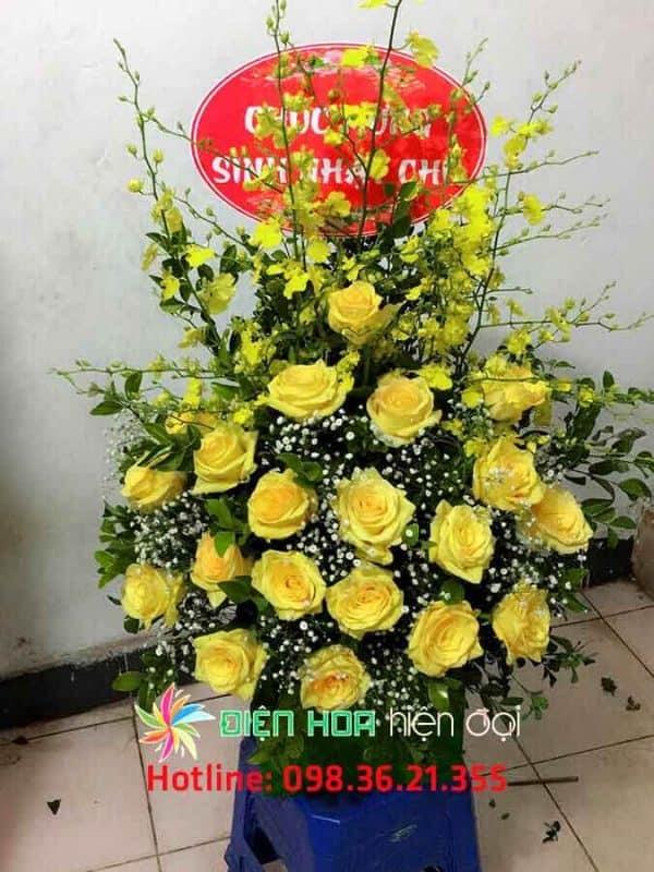 Giỏ hoa hồng mùa nắng hạ - DH323