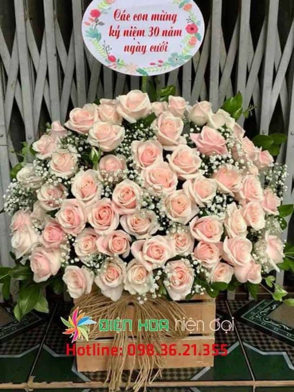 Giỏ hoa chúc mừng kỷ niệm - DH330