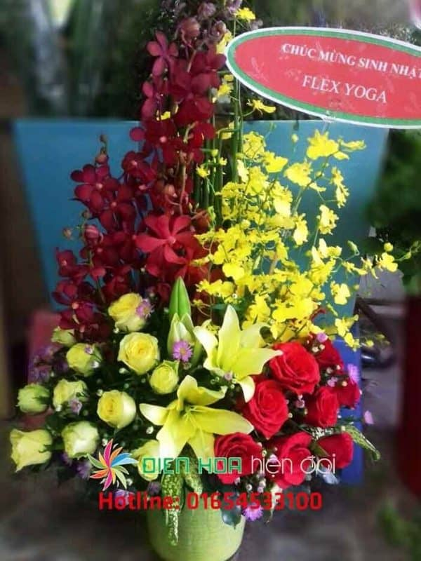 Giỏ hoa mừng cửa hàng - DH012