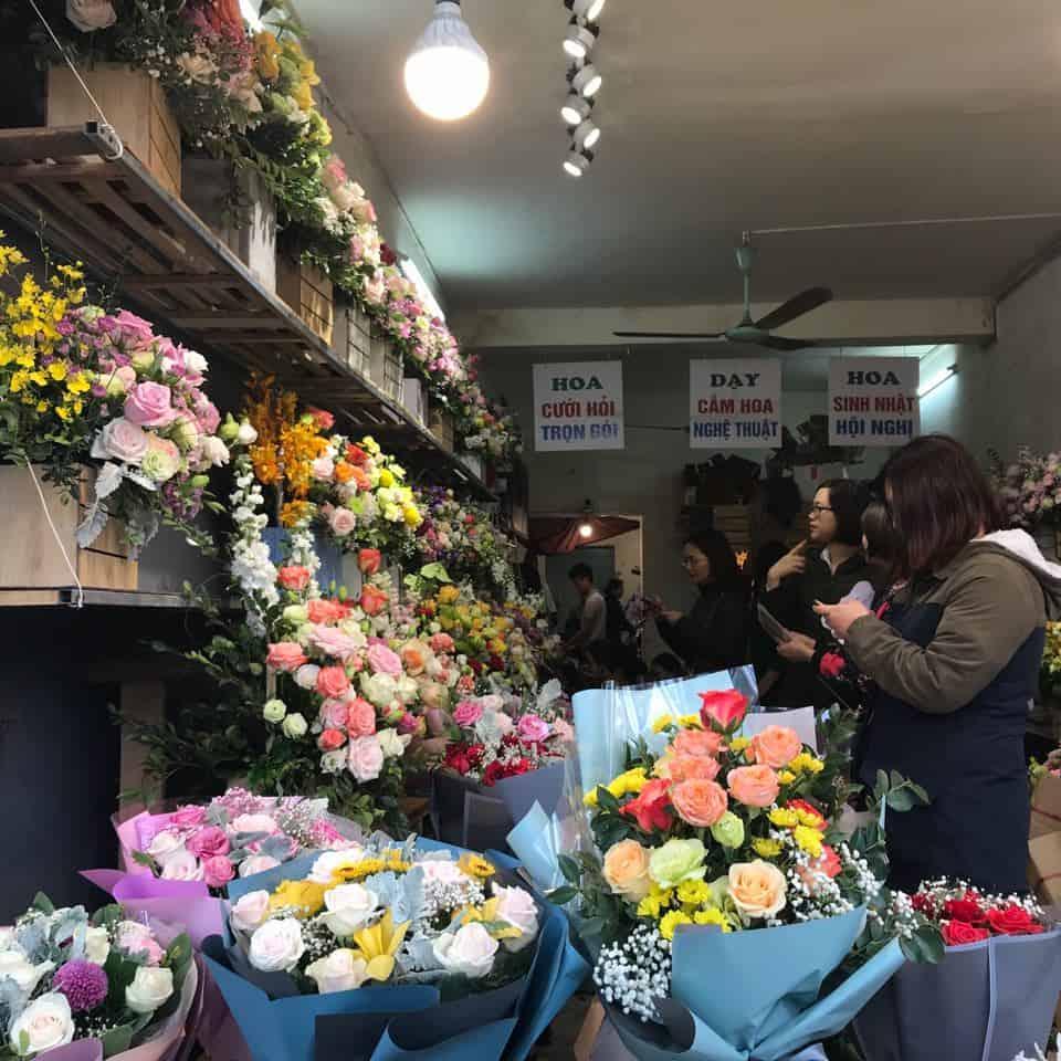 Cửa hàng bán hoa tươi hà nội